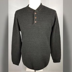 OSCAR DE LA RENTA Large Brown Fisherman Sweater